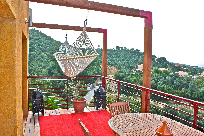 Terrasse Avec Hamac Farniente Location Villa Lloret De Mar
